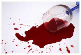 Rode wijn vlekken verwijderen vanish